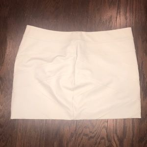 Express faux leather cream  mini skirt size 12